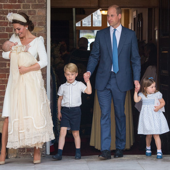 kate middleton prince william prince george princess charlotte prince louis christening