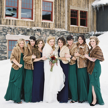 Cozy-Chic Fur Accessories for Winter Brides