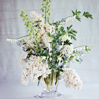 flower arrangement lilac persian lilies