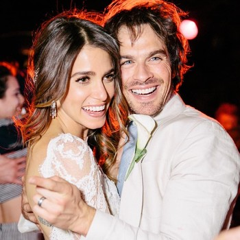 Nikki Reed and Ian Somerhalder on Their Wedding Day
