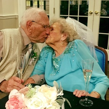 100 year old couple newlyweds