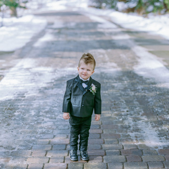 Our Favorite Ring Bearer Outfits for a Winter Wedding