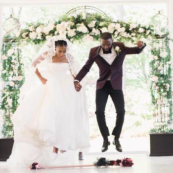 niara allen wedding ceremony jump broom