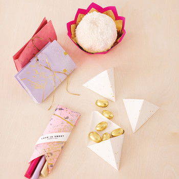 Fold-and-Tie Origami Wedding Favors