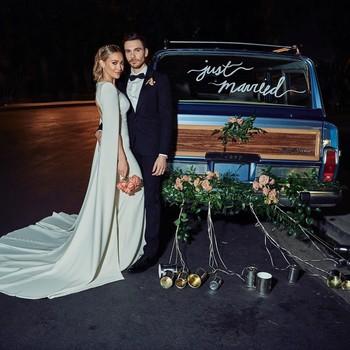 hilary duff matthew koma wedding couple portrait via Instagram