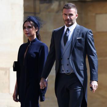 Victoria Beckham and David Beckham royal wedding 2018