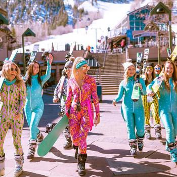 Aspen bachelorette hotels cover Peter lobozzo bridesmaids