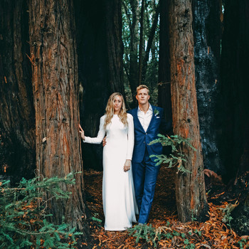 danielle adam wedding couple in woods