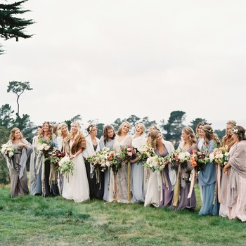 Winter Bridesmaid Dresses for a Cold-Weather Wedding