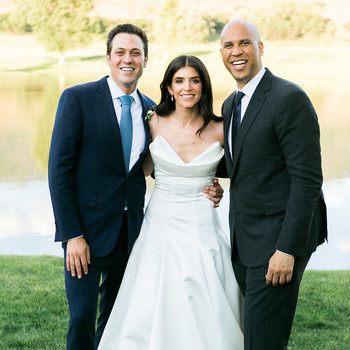 jessica aaron wedding couple with cory booker