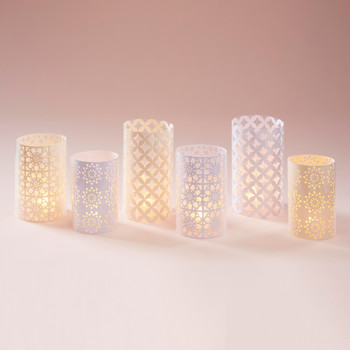Design Space Ivory Lace Votives