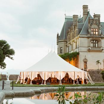 outdoor wedding reception tent