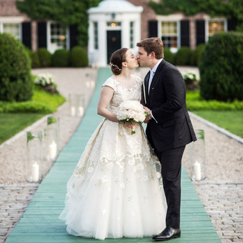 A Peony-Filled Backyard Wedding in New Jersey