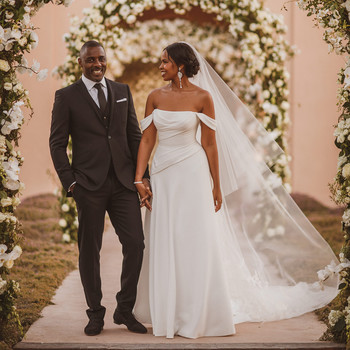 idris elba sabrina dhowre wedding couple