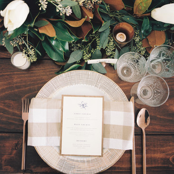 kendall nick wedding place setting