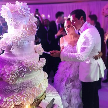 Peta Murgatroyd and Maks Chmerkovskiy wedding cake