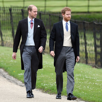 Prince William and Prince Harry at Pippa Middleton wedding