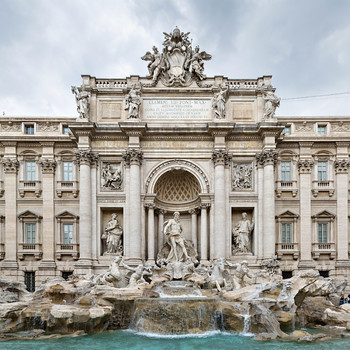 romantic destination italy rome trevi fountain