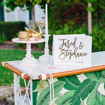 stephanie jared wedding guest book