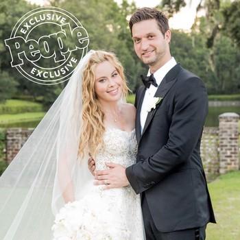 Tara Lipinski and Todd Kapostasy wedding photo