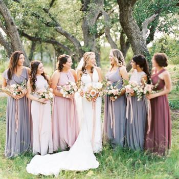 amanda chuck wedding mismatched bridesmaids dresses