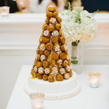 wedding croquembouche tower