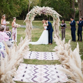 Bohemian weddings martha stewart weddings wedding ceremony aisle junglespirit