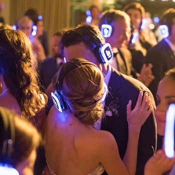 caitlin michael wedding silent disco