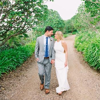 couple walking on trail