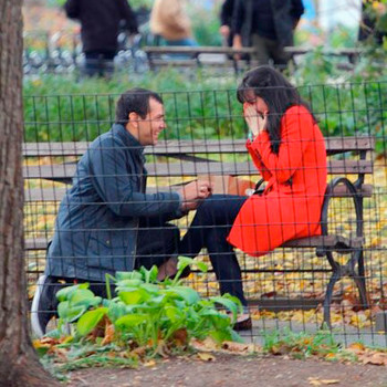 This Surprise Madison Square Park Proposal Was Almost Ruined by Two Guys Just Trying to Do Their Jobs