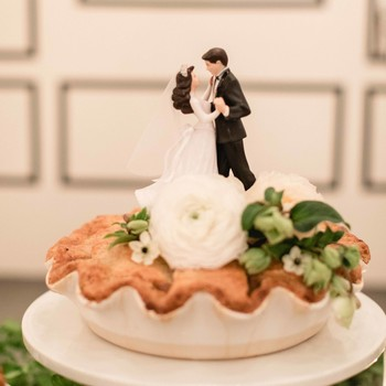 pie wedding topper