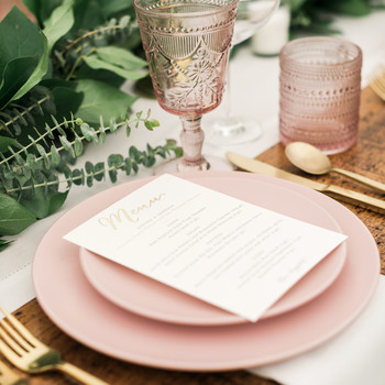 vanessa steven wedding placesetting