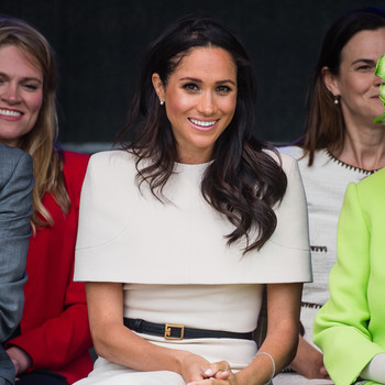 Meghan Markle in Givenchy at first official engagement with Queen Elizabeth II