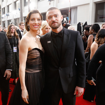 Justin Timberlake and Jessica Biel 2018 Golden Globes