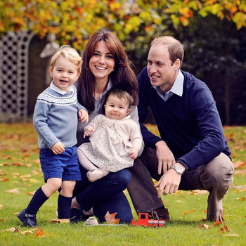 Prince William, Duchess Kate, Prince George, and Princess Charlotte
