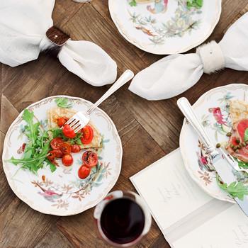 bessie john wedding food plates