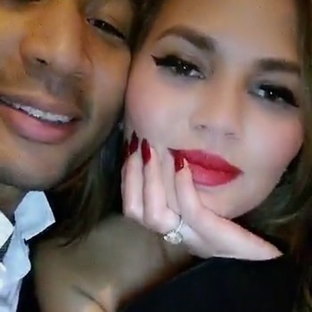 Chrissy Teigen and John Legend Date Night Snapchat