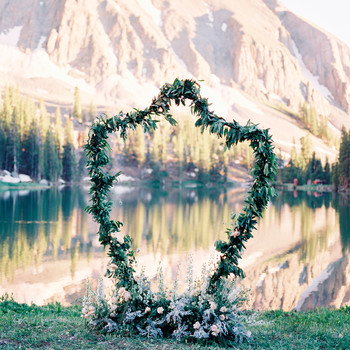 Trending Now: Crest-Shaped Wedding Décor
