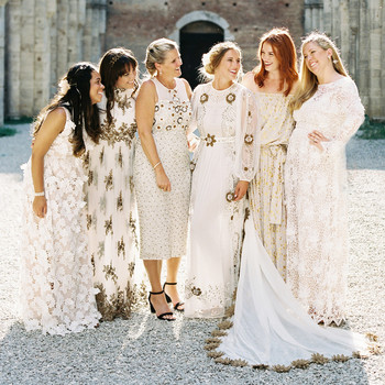 alexis zach wedding italy bridesmaids