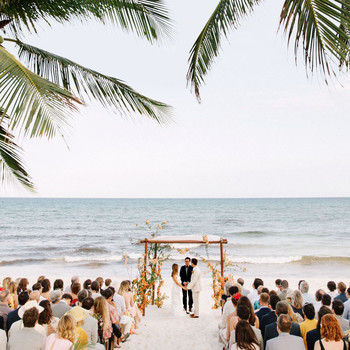 ariel trevor wedding tulum mexico chuppah vows