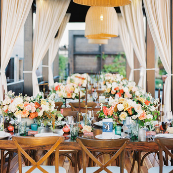 A Table Setup for a Wedding Reception