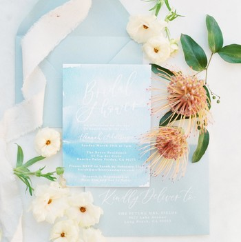 summer bridal shower invitation