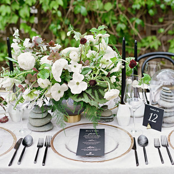 Wedding dcor details martha stewart weddings the prettiest place settings from real celebrations junglespirit Gallery