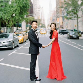 glara matthew wedding couple portrait city street