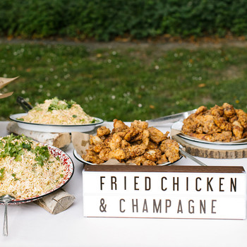 kendall jackson rehearsal dinner fried chicken