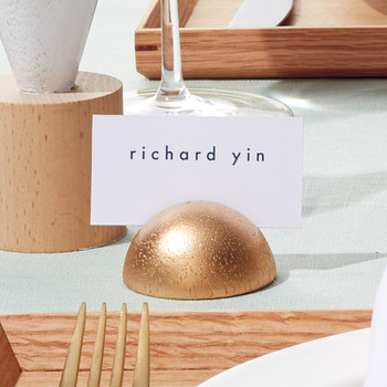 Geometric Wooden Place-Card Holders
