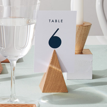 Geometric Table-Number Holders