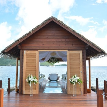 Sandals Resorts' first overwater wedding chapel in the Caribbean, exterior
