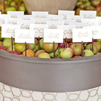 Apple Barrel Escort Cards