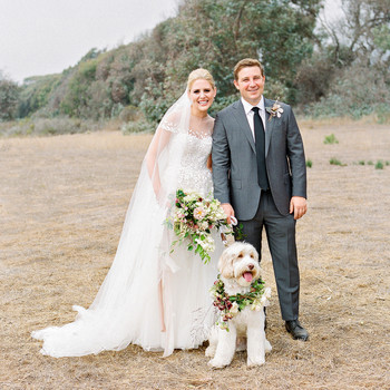 Emma mike California wedding Corbin gurkin couple dog